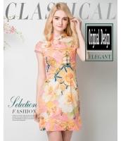 ガーベラレディース ニューバージョン チャイナードレス ワンピース レトロ ファッション 着やせ ショート丈 チャイナードレス mb11593-2