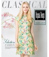 ガーベラレディース ニューバージョン チャイナードレス ワンピース レトロ ファッション 着やせ ショート丈 チャイナードレス mb11598-1