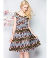 ガーベラレディース 欧米風 ファッション ドレス ワンピース 半袖 Vネック パーティ Aライン mb11604-2
