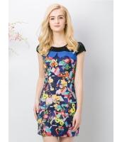 ガーベラレディース ファッション 丸首 ワンピース mb11639-1