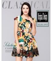 ガーベラレディース ファッション 着やせ 半袖 ワンピース mb11650-2