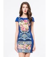 ガーベラレディース エレガント ファッション 花柄 半袖 ワンピース mb11696-1
