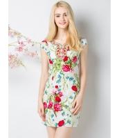 ガーベラレディース 刺繍 花柄 Vネック ファッション 着やせ ワンピース mb11721-1