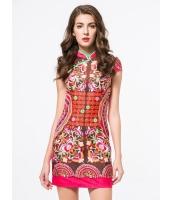 ガーベラレディース ファッション ニューバージョン 着やせ スタンドカラー チャイナードレス ワンピース mb11733-1
