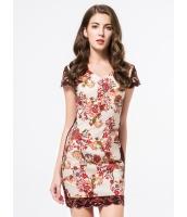 ガーベラレディース ファッション ニューバージョン 刺繡入り 着やせ ワンピース mb11735-1