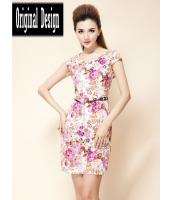 ガーベラレディース Vネック 小花 ファッション 着やせ ワンピース mb11789-1