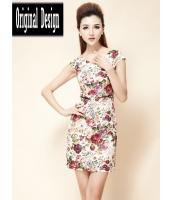 ガーベラレディース Vネック 小花 ファッション 着やせ ワンピース mb11789-2