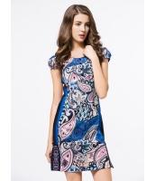 ガーベラレディース エスニック調 ファッション 芸術風 花柄 半袖 ワンピース ミニスカート mb11830-1