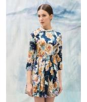 ガーベラレディース エレガント ファッション スタンドカラー プリーツ 着やせ ワンピース mb11865-1