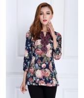 ガーベラレディース ファッション 七分袖 Tシャツ mb11876-1