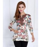 ガーベラレディース ファッション 七分袖 Tシャツ mb11876-2