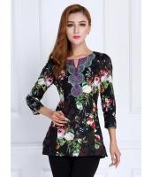 ガーベラレディース ファッション 七分袖 Tシャツ mb11876-3