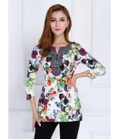 ガーベラレディース ファッション 七分袖 Tシャツ mb11876-4