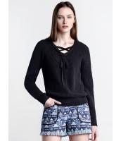 ガーベラレディース 欧米風 カジュアル 細身 ファッション コーデアイテム Vネック 長袖 ニットウェア セーター mb11907-2