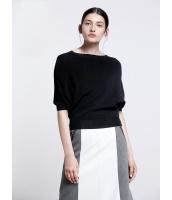 ガーベラレディース エレガント ファッション ゆったり ドルマン袖 丸首 ニットウェア セーター mb11924-1
