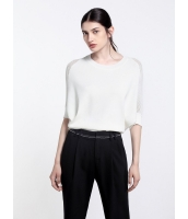 ガーベラレディース エレガント ファッション ゆったり ドルマン袖 丸首 ニットウェア セーター mb11924-2