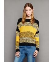ガーベラレディース 欧米風 ゆったり 丸首 長袖 ニットウェア セーター mb11951-2