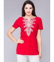 ガーベラレディース レトロ Tシャツ 大きいサイズ 着やせ 半袖 mb11978-2