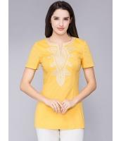 ガーベラレディース レトロ Tシャツ 大きいサイズ 着やせ 半袖 mb11978-3