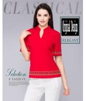 ガーベラレディース Tシャツ ゆったり 着やせ コーデアイテム 純色 ショート丈 半袖 mb11979-2