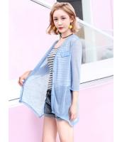 ガーベラレディース 韓国風 カジュアル ファッション 通気性 七分丈袖 涼しい カーディガン mb11985-1