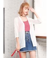 ガーベラレディース 韓国風 カジュアル ファッション 通気性 七分丈袖 涼しい カーディガン mb11985-4