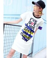 ガーベラレディース ファッション 文字入り H型 半袖 ワンピース mb11997-1
