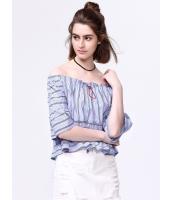 ガーベラレディース 韓国風 ファッション ワイド袖 ショート丈 ブラウス mb12005-1