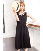 ガーベラレディース 韓国風 ファッション カジュアル 袖なし ワンピース mb12011-2
