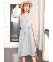 ガーベラレディース 韓国風 ファッション カジュアル 袖なし ワンピース mb12011-3