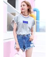 ガーベラレディース 韓国風 ファッション ショート丈 スウェット mb12019-2