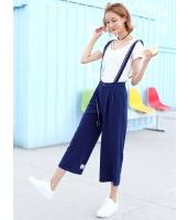 ガーベラレディース 韓国風 ファッション 個性派 八分丈 サロペット・オールインワン mb12029-1
