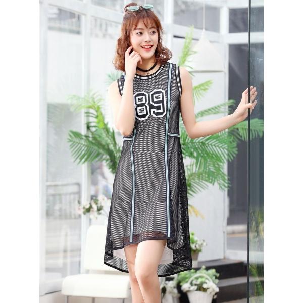 ガーベラレディース 韓国風 ファッション 個性派 タンクトップワンピース mb12047-1