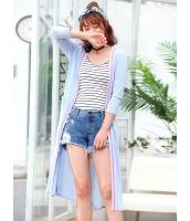 ガーベラレディース 韓国風 ファッション 側面スリット ロング丈 カーディガン mb12050-1