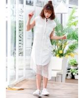 ガーベラレディース 韓国風 ファッション シャツワンピース mb12055-1