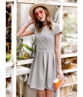 ガーベラレディース 韓国風 シンプル ファッション ウエスト引き締め ワンピース mb12087-2
