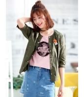 ガーベラレディース 精緻 刺繡入り 丸首 ジャケット mb12098-1