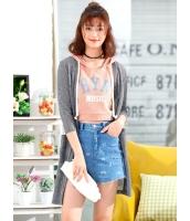 ガーベラレディース 韓国風 ファッション クラシック シースルー 軽やか 七分丈袖 ロング丈 涼しい カーディガン mb12125-2