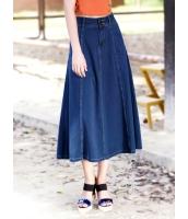 ガーベラレディース ファッション 大きい裾 デニム ロング丈 スカート mb12175-1