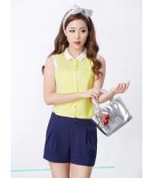 ガーベラレディース 韓国風 クラシック エレガント リラックス 袖なし シャツ mb12179-2