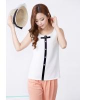 ガーベラレディース 韓国風 クラシック レトロ 着やせ 袖なし シャツ mb12209-1