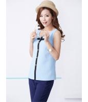 ガーベラレディース 韓国風 クラシック レトロ 着やせ 袖なし シャツ mb12209-2
