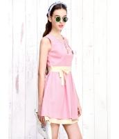 ガーベラレディース 韓国風 スイート ダブルレイヤー 裾 着やせ 袖なし ミニワンピース mb12214-2