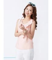 ガーベラレディース 韓国風 カジュアル コーデアイテム 袖なし ブラウス mb12217-1