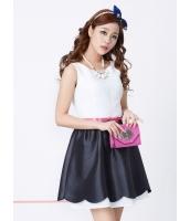 ガーベラレディース 韓国風 ファッション 袖なし ミニワンピース ミニドレス ウエストバンド特典付き mb12220-2