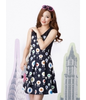ガーベラレディース 韓国風 学生風 通気性 着やせ Aライン 袖なし ミニワンピース mb12222-1