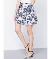ガーベラレディース 韓国風 コーデアイテム トロピカル 花柄 Aライン ゴアードスカート mb12247-1