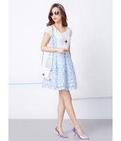 ガーベラレディース 韓国風 レトロ ドット・水玉 リラックス 大きい裾 半袖 ミニワンピース mb12252-1