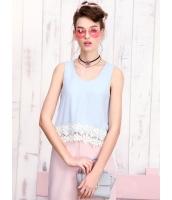 ガーベラレディース 韓国風 ファッション ロマンチック 花柄 レース コーデアイテム シフォン ゆったり 袖なし タンクトップ mb12257-1