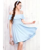 ガーベラレディース 韓国風 ぺプラム裾 着やせ 大きい裾 ひざ丈ワンピース ミディワンピース mb12265-1